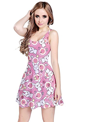 CowCow - Robe - Femme Green Doodles Pink Doodles