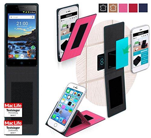 reboon Hülle für ZTE Blade V580 Tasche Cover Case Bumper | Pink | Testsieger
