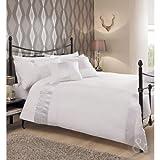 Juego de funda nórdica y funda de almohada de algodón, plisada, diseño de satén, mezcla de...