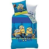 CTI Juego de cama reversible azul tamaño 135x 200cm (80x 80cm)