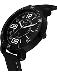 YOUTH CLUB STUNNING BLACK ANALOG BLACK DIAL MEN'S WATCH-BLK-5055