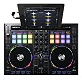 Reloop Beatpad 2 – 2-Kanal USB Cross Platform DJ Controller - 16 RGB Performance Pads mit Jogwheels und integrierter Soundkarte, Plug and play für Algoriddim Djay 2 und Djay Pro, Spotify-Ready, (schwarz)