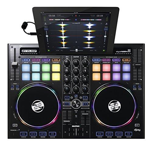 Reloop Beatpad 2 - 2-Kanal USB Cross Platform DJ Controller - 16 RGB Performance Pads mit Jogwheels und integrierter Soundkarte, Plug and play für Algoriddim Djay 2 und Djay Pro, Spotify-Ready, (schwarz)