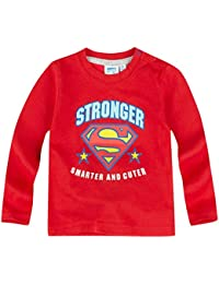 Tee Shirt Manga Larga Bebé Niño Logo Superman rojo de 3a 24Meses