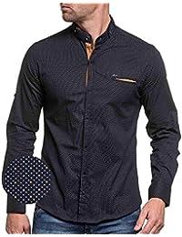BLZ Jeans - Camisa casual - cuello mao - Manga Larga - para hombre