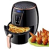 CJVJKN Air Fryer, 4.5L Air Fryer Fornello, 1800W di aria calda di friggitrici Forno sano friggitrice con schermo attivabile al tatto, timer e controllo della temperatura regolabile, padella antiaderen