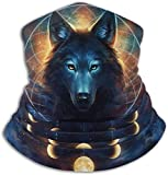 Qinckon Fleece Neck Warmer Gaiter Galaxy Wolf Soft Microfiber Headwear Face Scarf Mask for Winter Cold Weather & Keep Warm for Mens Womens 11992