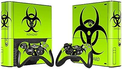 XBOX 360 E Skin Design Foils Aufkleber Schutzfolie Set - Biohazard Motiv