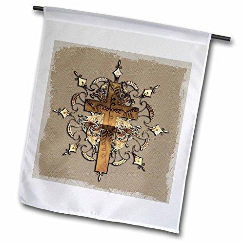 3dRose FL 54377_ 1Bronze Verziert Kreuz Garten Flagge, 12von 18 -