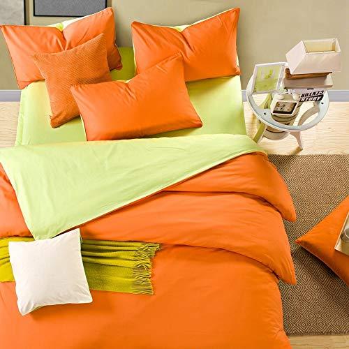 yaonuli Juego de Cama de Color sólido Simple de Cuatro sábanas de...