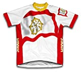 Drapeau Sikkim à manches courtes Maillot de cyclisme pour femme Large Blanc - blanc