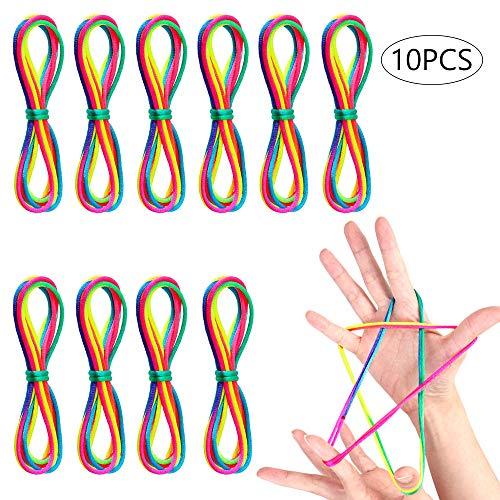 Fabur El Cordón Arcoíris 8 Piezas Juegos yJuego del Corde, Cordón Arcoiris Colorido Regalo Infantil