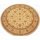 Runder Orientteppich Ziegler ca. 242 cm Ø Beige - feine Qualität - moderner Teppich - oriental round carpet Zigler best quality