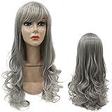 Pelucas clifcragrocl, peluca de fibra qu¨ªmica de largo rizado peluca de moda con flequillo para cosplay - HL300119