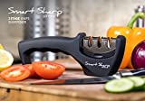 from Lantana Knife Sharpener - Smart Sharp by Lantana. No1 Choice for Sharpening Kitchen Knives. Next Generation 3 stage Manual System for professional results - ceramic stone, tungsten carbide plates, diamond rod. Ergonomic Design with a Stylish Black/Chrome Finish. Used by Chefs World Wide - Sharpen Your Blunt Blades Now!