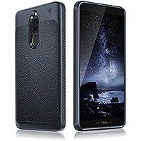 Huawei Mate 10 Lite Hülle, aus stoßsicheren & flexiblen Material mit einzigartiger Lederstruktur, hochwertige und robuste Smartphone Schutzhülle, ultra dünn & leicht (blau)