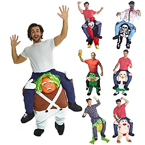 Unisex Piggy Back Chocolate Factory Worker Fancy Dress Piggyback Costume - With Stuff Your Own Legs