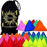 5x Tri-It Juggling Balls - Set of 5 Pyramid Juggling Sacks (Mix) Bean Bags For Kids & Adults + Fabric Travel Bag.
