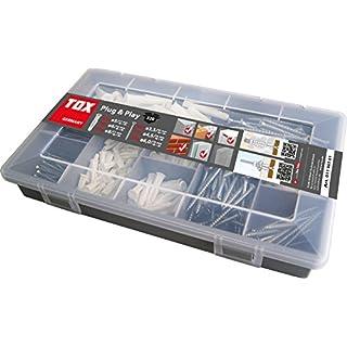 TOX Sortimentskoffer Plug und Play, 320 tlg. mit Allzweckdübel Trika 5x31 mm, 6x36 mm, 8x51 mm + perfekt abgestimmte Schrauben, 01190101
