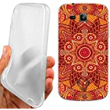 CUSTODIA COVER CASE ARANCIO MANDALA PER SAMSUNG GALAXY TREND PLUS S7580