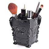 Tonsee Retro Acryl Makeup kosmetische Storage Box Case Pen Bleistift Bürstenhalter (schwarz)