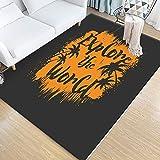 KFEKDT Alfombra de Arte de Estilo mediterráneo, Sala de Estar en el hogar, decoración de alfombras Grandes, Mesa de café Antideslizante, Alfombra de Piso, Dormitorio, A2, 120x160 cm