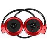 HuntGold neuf mini 503 Bluetooth sans fil stéréo MIC casque de musique écouteur pour Samsung iPhone(rouge)