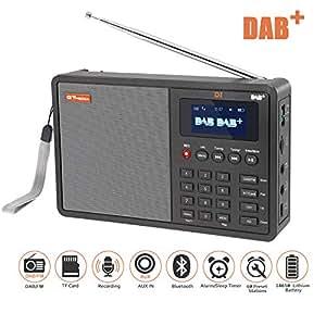 dab radios savori 1 8 lcd display tragbare fm dab radio. Black Bedroom Furniture Sets. Home Design Ideas