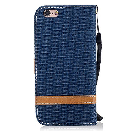 Nutbro iPhone SE Case,iPhone 5S Case,Denim Wallet Case for iPhone SE with Card Holder Fodable Kickstand Flip Cover Protective Case Cross Pattern Magnet Case BF-iphone-5S-73
