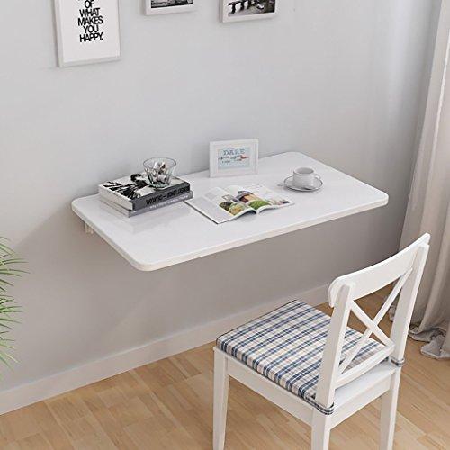 L.TSA Kleiner Computer Schreibtisch Wand Schreibtisch Schlafzimmer Notebook Schreibtisch Klapptisch Wandbehang Esstisch, weiß, Multi-Size Optional 90 * 40cm -