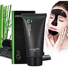 Luckyfine Mascarilla Negra para Puntos Negros, Mascarilla Limpiadora Facial, Black Mask Exfoliante Facial de