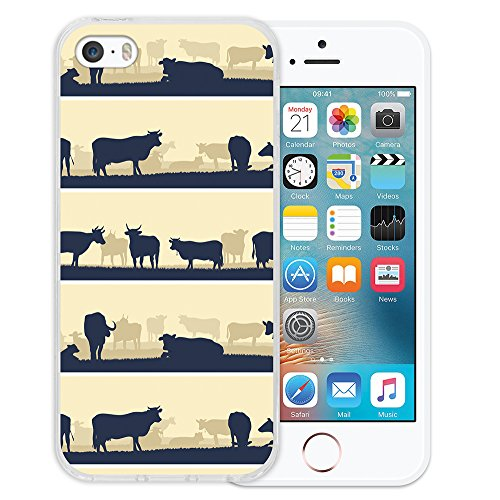 iPhone SE iPhone 5 5S Hülle, WoowCase® [Hybrid] Handyhülle PC + Silikon für [ iPhone SE iPhone 5 5S ] Husky-Hunde Sammlung Tier Designs Handytasche Handy Cover Case Schutzhülle - Transparent Housse Gel iPhone SE iPhone 5 5S Transparent D0524