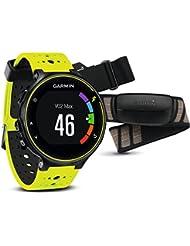 Garmin Forerunner 230 - Pack con reloj de carreja y pulsometro premium, unisex, color amarillo y negro, talla regular