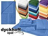 Frottiertücher der Serie Opal - erhältlich in 33 modernen Farben und 7 verschiedenen Größen -Markenqualität von Dyckhoff, Duschtuch [70 x 140 cm], azur
