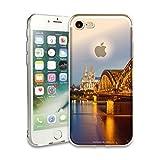 myCityCase iPhone 7 Silikon Case KÖLN - Fotodesign Schutzhülle Kölner Dom im Sonnenuntergang - weiches iPhone 7 Soft