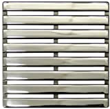 E4811-PC Parallel Decorative Drain Grate, Polished Chrome by Ebbe