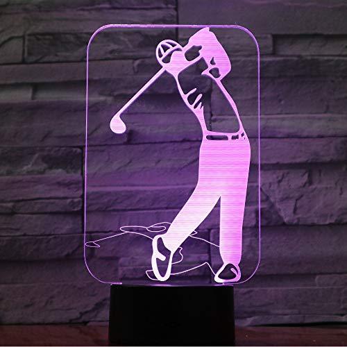 Golf-Spieler beleuchtet 3D LED Lampe 7 Bunte Acryllampe als Hauptdekorations-Lichter GX-977
