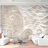 Fototapete 3D - Abstrakt Beige Vlies Wand Tapete Wohnzimmer Schlafzimmer Büro Flur Dekoration Wandbilder XXL Moderne Wanddeko - 100% MADE IN GERMANY - Runa Tapeten 9193010a