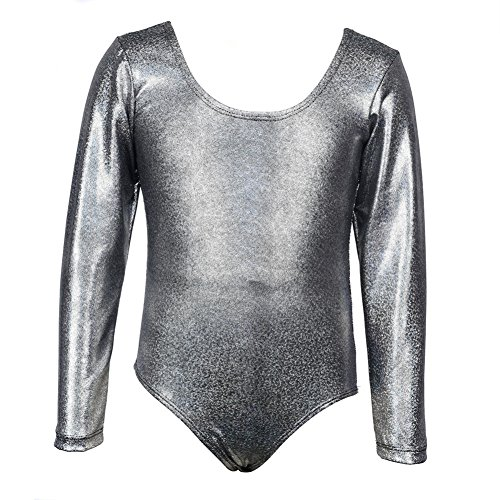 r Kinder Mädchen Kind Gymnastik Ballett Tanzkleid einteilige Langarm schein tanzen gymnastik athletische kleidung Reine Farbe (Schwarze Halloween-kostüme Für Tweens)