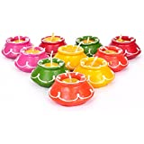 TiedRibbons® Matki Candles | Diwali Candles Set | Tealight Diya | Tea Light Smokeless Candles Set Of 10 (Handmade)