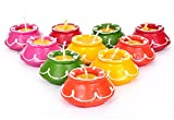 #8: TiedRibbons® Matki Candles | Diwali Candles Set | Tealight Diya | Tea Light Smokeless Candles Set of 10 (Handmade)