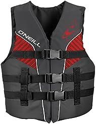 O'Neill Wetsuits Kinder Buoyancy Aid Youth Superlite 50N CE Vest, Smoke/Graph/Red/Wht, 30-40 kg, 4725EU-CI9-YTH