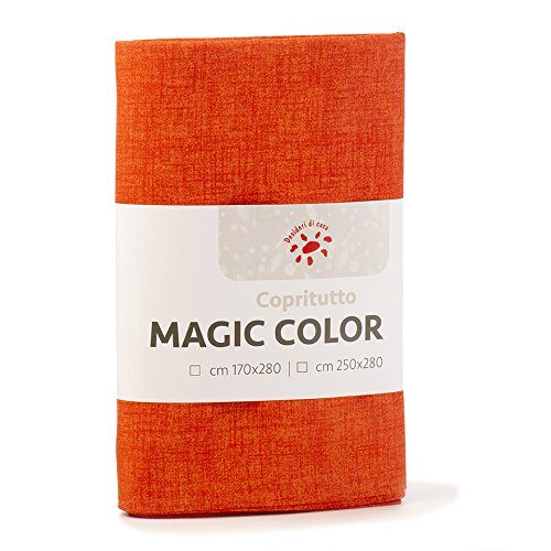 Boutiques du monde 2101629 telo copri tutto, arancione, 180 x 290 cm,