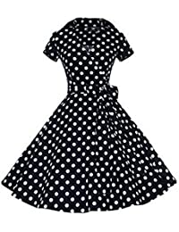 E-Girl M120718D Robe de bal Vintage pin-up 50's Rockabilly robe de soirée cocktail,S-XXXXL