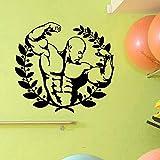 zqyjhkou Stickers muraux créatifs Gym Fitness Stickers Vinyle Stickers Adesivo De Parede Décor À La Maison Murale Salle De Gym Murale Mur Art Affiches 46cmx42cm