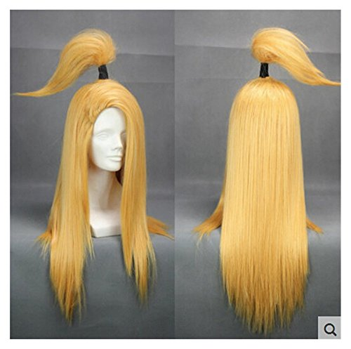 nge Cosplay Wig Lang Gold Gelb Anime Haar (Anime Cosplay Für Jungen)