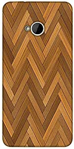 Snoogg Vector Wood Parquet Floor Designer Protective Back Case Cover For HTC M7