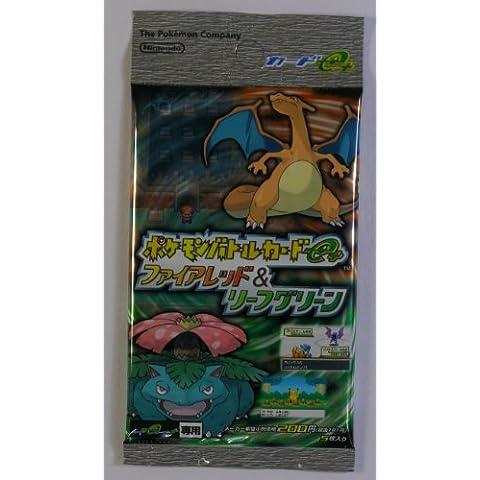 Tarjetas de Batalla Pokemon e + Rojo Fuego y Verde Hoja único paquete