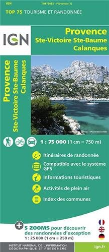 Provence - Ste-Victoire - Ste-Baume - Calanques ign (Ign Map) por Institut Geographique National