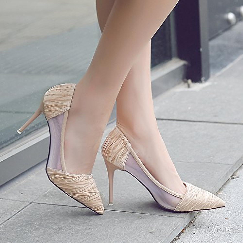 Xue Qiqi tacco alto scarpe donna con punta fine sandali traspirante filato netto scarpe donna nero selvaggio incontro... | Pratico Ed Economico  | Uomini/Donna Scarpa